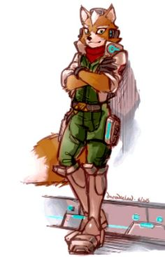 Fox McCloud... This art is not mine, the credit goes to the respective artist