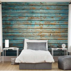 The Weathered Wood and Washed Timber Wall Murals are so effective in lifting a drab wall! The industrial/imperfection look also adds intrigue! ✨😍 Timber Walls, Empty Spaces, Textured Wallpaper, Weathered Wood, Wall Murals, Bed Pillows, Im Not Perfect, Industrial, Home