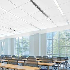 Mineral fiber suspended ceiling / tile TECHZONE Armstrong ceilings - Europe
