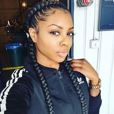STYLIST FEATURE  Love these #goddesbraids on @queenfu styled by #LABraider @T2dawy❤️ So neat and pretty ========================= Go to VoiceOfHair.com ========================= Find hairstyles and hair tips! =========================