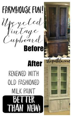 Farmhouse Style Upcycled Cupboard!
