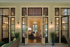 "Want these doors with transoms!    Our clients at Historical Concepts mastered the combination of Southern Vernacular and Caribbean architecture in this ""Among the Oaks"" home in Spring Island, South Carolina.   Read and see more pictures on our blog: http://www.eberlycollardpr.blogspot.com/"