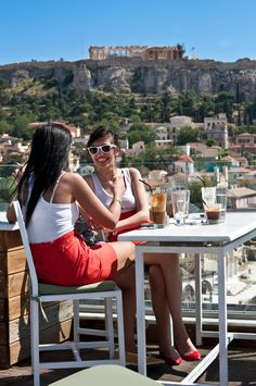 Frappe & Athens Acropolis, Greece