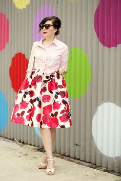 Keiko Lynn: Gingham shirt and Floral skirt from Mindy Mae's Market (20% off with code KEIKO20)
