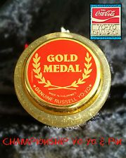 Coca Cola gold medal genuine Russell yoyo & champion Pin