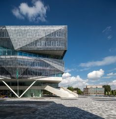 Architizer is the largest database for architecture and sourcing building products. Home of the A+Awards - the global awards program for today's best architects. Cultural Architecture, Architecture Board, Classic Architecture, Amazing Architecture, Bus Terminal, Best Architects, Grand Designs, Steel Structure, New City