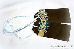 Blue Gem Chalkboard Tags only on Chique Handmade Cards and Jewels LLC website.   www.chiquehandmadecardsandjewels.com