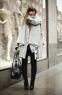 Big Scarves with Big Bags