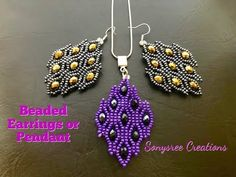 How to make This Awesome Earrings ~ Seed Bead Tutorials