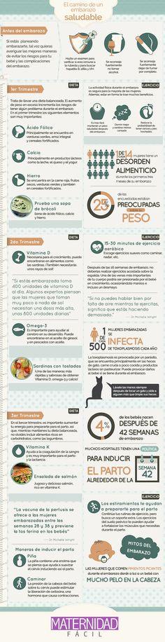 Cómo tener un embarazo saludable (Infografía)