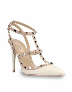 Valentino The Rockstud patent-leather pumps White