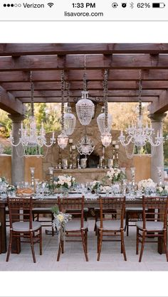 Small outdoor reception or the before wedding dinner
