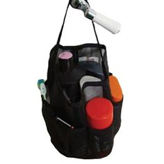 Black Mesh Tote Shower Bag *** Visit the image link more details. (This is an Amazon Affiliate link and I receive a commission for the sales)