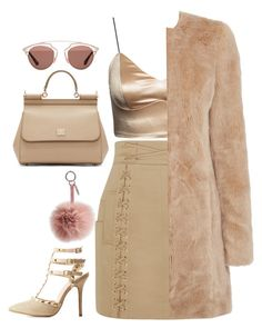 """#Neutrals"" by diva-996 on Polyvore featuring Balmain, Dolce&Gabbana, Wild Diva, Oasis, Fendi and Christian Dior"