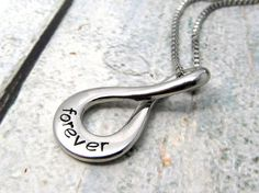 Infinity Necklace - Personalized Jewelry - Hand Stamped Necklace - Personalized Necklace Personalized Infinity Necklace Stamped Metal (700)