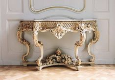 Buy online, view images and see past prices for A NAPOLEON III PARCEL GILT AND WHITE PAINTED CONSOLE TABLE CIRCA 1880. Invaluable is the world's largest marketplace for art, antiques, and collectibles. French Furniture, Furniture Design, Italian Baroque, Colorful Drawings, Marble Top, White Paints, Console Table, Entryway Tables, Consoles