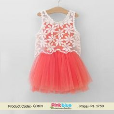 Stylish Baby Net Wedding Dress - Kids Summer Clothing, Infant Party Wear Dress, 1st Birthday Outfits, Princess Floral Party Dress, Toddler Girls Formal Clothes, Designer Kids Wear