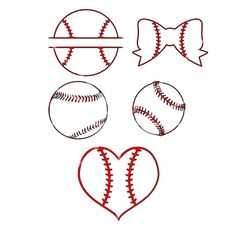 SVG - Baseball SVG Set - Baseball Heart - Baseball Split - Baseball Bow - Baseball - Baseball lines SVG - Baseball images - cricut cut file