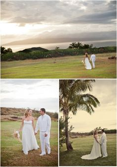 Looking back to Oct, 2009 with a Pastel Ombre + Pearl wedding in Maui by Canvas & Canopy Events...