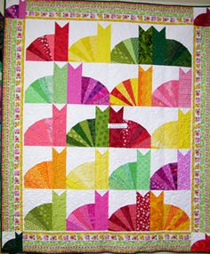 """phatkats quilt Probably not for the """"easy"""" list, but looks do-able, and perfect for a cat lover gift."""