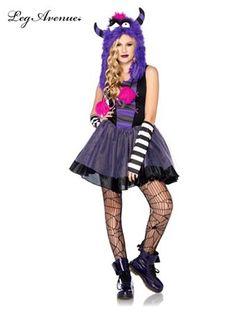 Teen Punky Monster Costume. See more tween costume ideas at CostumeSuperCenter.com!