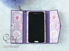 本革携帯イニシャルエンボスケース、ワンデイレッスンのお知らせ、スライド金具 | ふんわりかわいいカルトナージュ