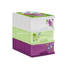 KEEEPER Pojemnik z 3 szufladami A5 plastikowy HIPPO