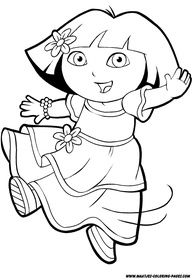 Dora Coloring Print Outs Printable Pages