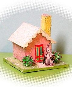 how to: Easter glitter house