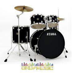 Bateria Acústica Tama Rhythm Mate 5 Pzs. Negra Mate