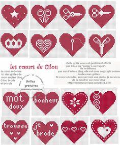 many many little hearts. Free Cross Stitch Patterns