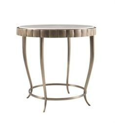 Picture of Barbara Barry Chinched Occasional Table. Ruth: this might be nice next to the bracelet chair??