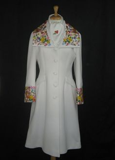 1960   Embroidered White Coat by Lilli Ann