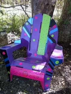 painted chair for my herb garden! Lawn Chairs, Garden Chairs, Outdoor Chairs, Outdoor Decor, Painted Chairs, Hand Painted Furniture, Cool Chairs, Diy Projects To Try, Yard Art