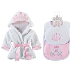Baby Aspen Princess Bundle of Princess Robe and Princess Bibs, Pink Unique Baby Gifts, Baby Girl Gifts, Cute Babies, Baby Kids, Baby Baby, Baby Aspen, Princess Gifts, Princess Room, Trendy Baby