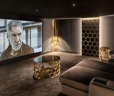 repost The world's only fully bespoke cinema pod 📽 - Let us effortlessly transport you to the limits of your imagination with CIPOD's pioneering audio & visual equipment. Home Theater Room Design, At Home Movie Theater, Home Theater Rooms, Cinema Room Small, Home Cinema Room, Home Office Shelves, Home Studio Music, Kitchens And Bedrooms, Home And Deco