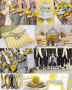 Gray and yellow #wedding