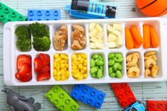An easy way to offer your toddler a variety of healthy options at any meal! Toddler Fun, Toddler Meals, Kids Meals, Toddler Recipes, Buffet, Ice Cube Trays, Ice Cubes, Cupcake Tray, Fancy Cupcakes