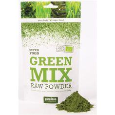 Superfood purasana GREEN MIX Super Mix 100 % Raw Powder neu im Sortiment