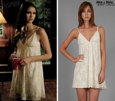 Alice + Olivia: lace white dress