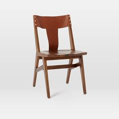 Michael Robbins Cantilevered Dining Chair   west elm, very Kishani Perera, leather wood combo