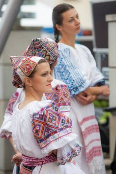 Bacúch - village at Horehronie region, Central Slovakia. Folk Embroidery, Learn Embroidery, Folk Costume, Costumes, People Around The World, Colorful Fashion, Traditional Dresses, Ukraine, Beautiful People