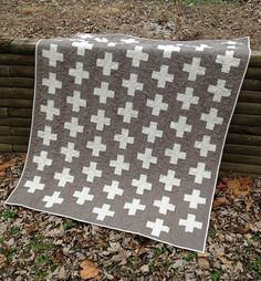 Fresh Modern Quilts. Can't get enough plus sign quilts. This would be great with a jelly roll.