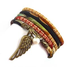Japanese Wrap Bracelet with Angel Wing Charm $36.00. Save 20% when you sign up for our free email list!