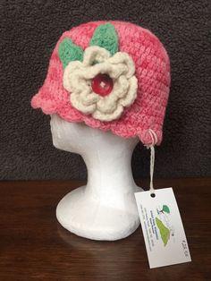 4eada0dcfd8 Miss Daisy Hat Beanie with accent flower- Hand-kniited 100% wool farm