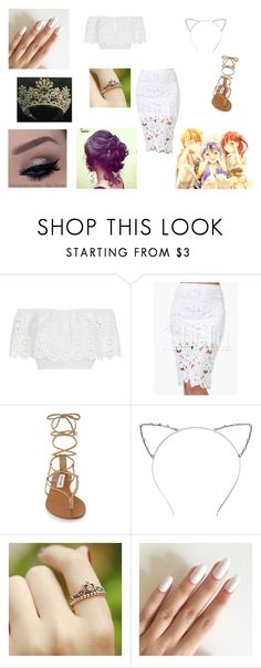"""""""Magi!"""" by linsey-tracey ❤ liked on Polyvore featuring Miguelina, WithChic and Steve Madden"""