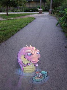 sidewalk chalk art http://www.pinterest.com/emmagangbar/boards/