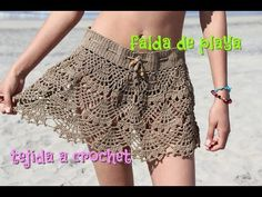 falda Tejida a Crochet - YouTube