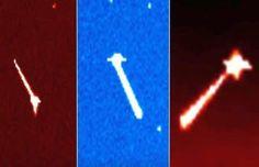 IMPRESSIONANTE - Três UFOs Disparando Raios de Energia na Direção do Sol?