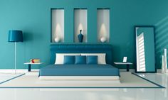 This wall color would look great for the painted floor with white stencil for border or reversed.
